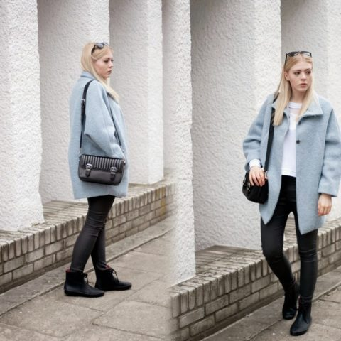 Outfit: Baby blue coat