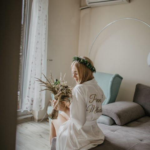Przygotowania ślubne – szlafrok Panna Młoda