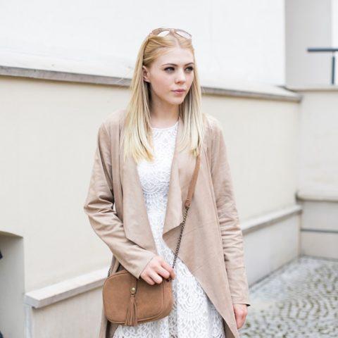 beSmart Design – długi płaszcz nude