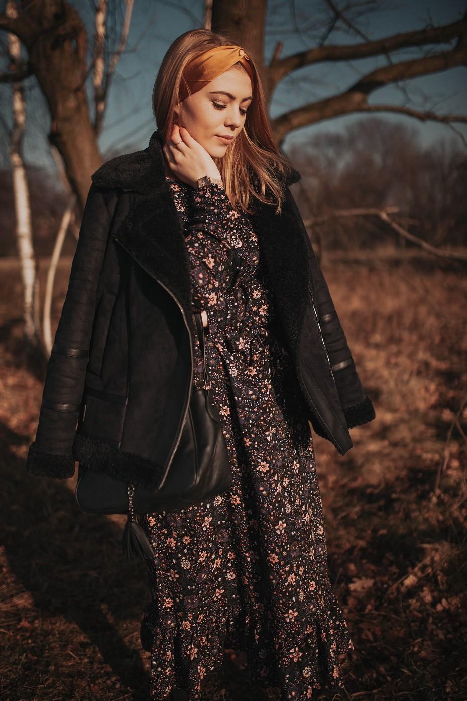 sukienka kwiaty xs