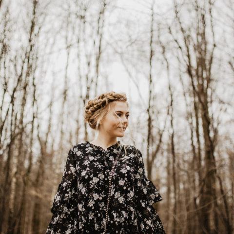 Stylizacja z sukienką w kwiaty i próbna fryzura ślubna| CARRY