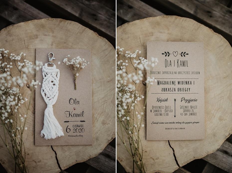Zaproszenia ślubne w stylu rustykalnym