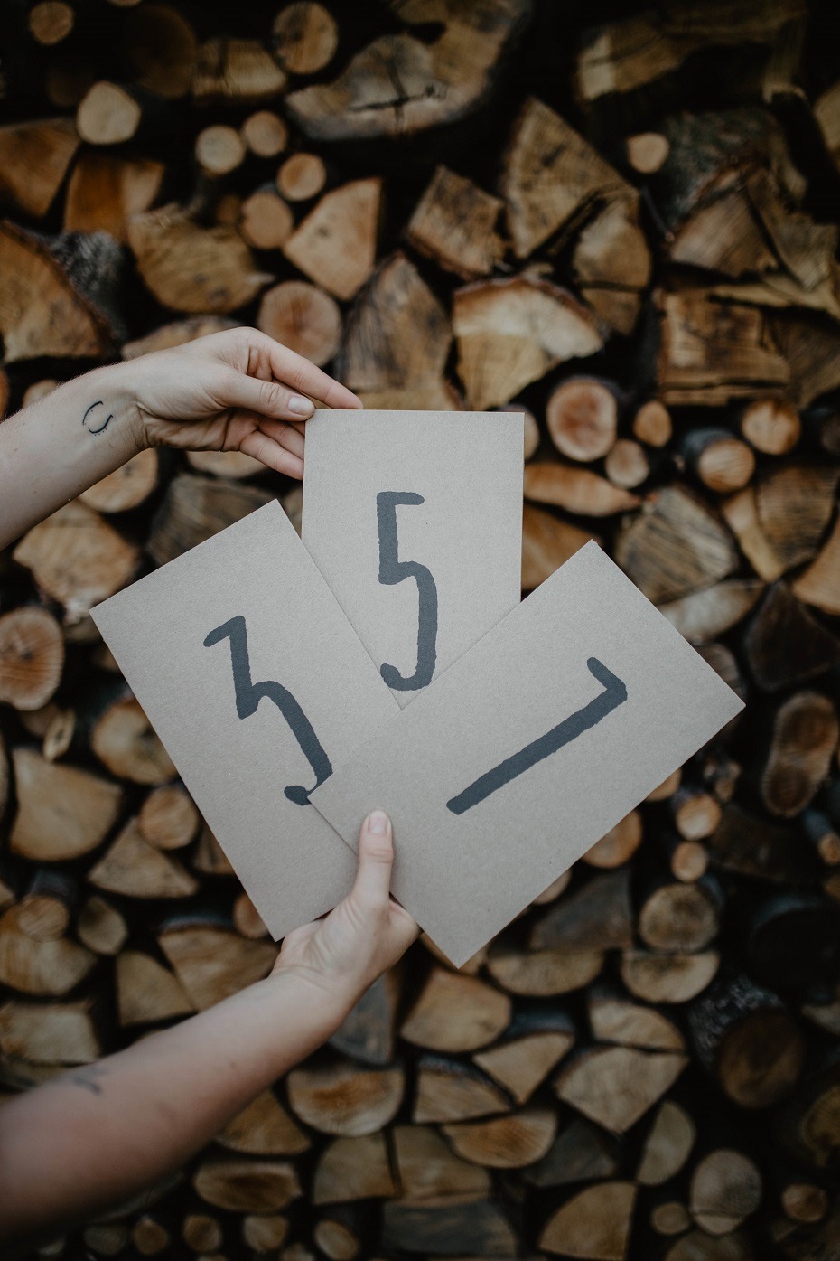 numery stołów rustykalne