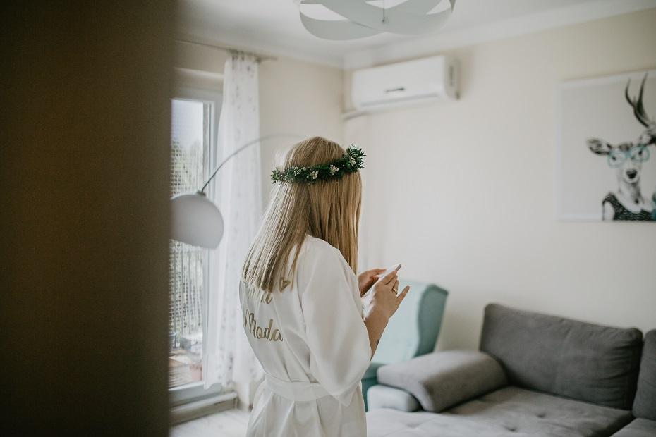 Szlafrok ślubny bride