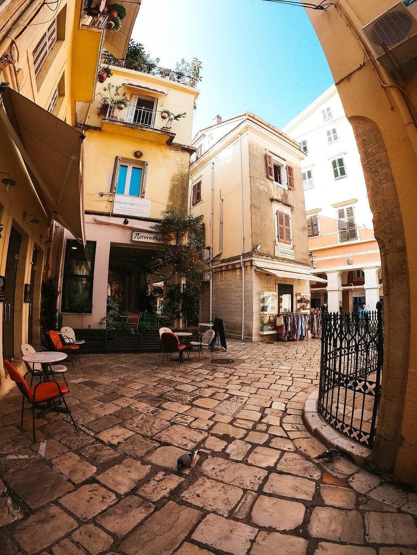 Korfu Grecja miasto Kerkyra