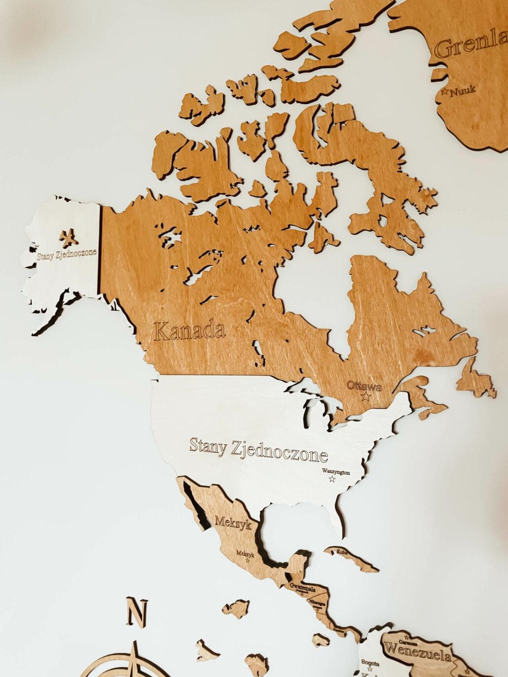 Losokawood drewniana mapa